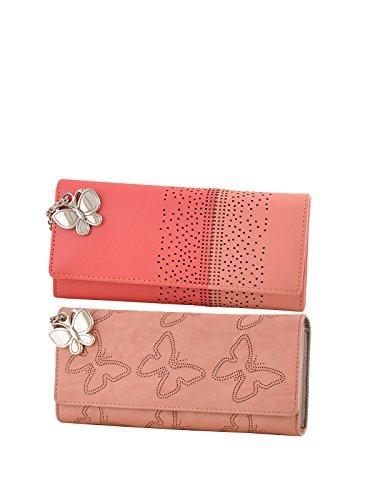 Butterflies Women Wallet Combo's(Dark Peach,Peach) (BNS C149) (Pack of 2)