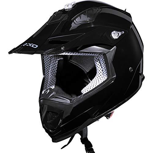 Nexo Motorradhelm, Crosshelm, Motocrosshelm MX-Line Crosshelm II schwarz M, Unisex, Cross/Offroad, Ganzjährig, Thermoplast