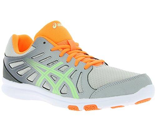 Asics , Chaussures de sport d'extérieur pour femme multicolore Grey/Paradise Green/Coral