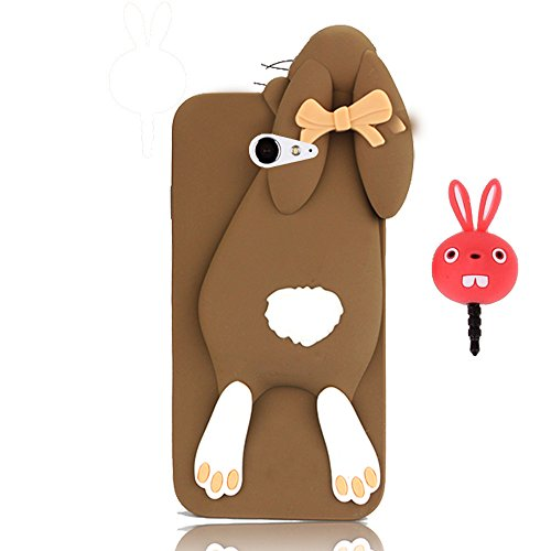 vandot-fashion-case-3d-lovely-cartoon-buck-teeth-bunny-rabbit-rubber-series-soft-silicone-case-cover