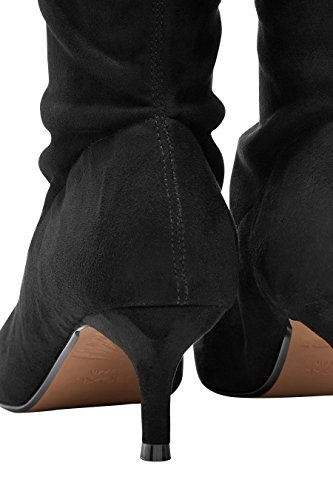 Siguiente Botas Negras Hasta La Rodilla Para Mujer
