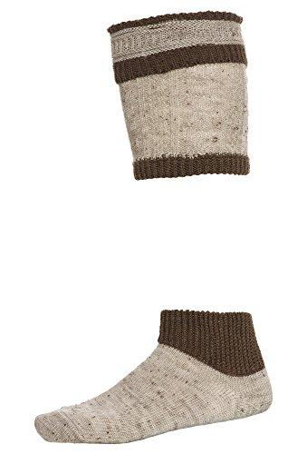DISTLER Set: Socken und Loferl - Gr. 39/42 - 45/46 hellbraun,45/46