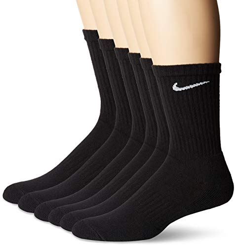 Nike Herren U NK Everyday CUSH Crew 6PR-BD Socks, Black/White, M -