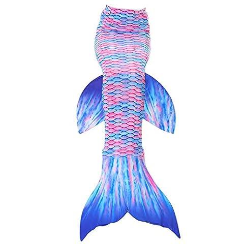 Fanryn niedlich Mädchen Meerjungfrau Schwimmanzug Meerjungfrauenschwanz zum Schwimmen Badeanzüge Kostüm Badeanzug Kann Monofin treffen für Kinderschwimmen Schwimm Cosplay