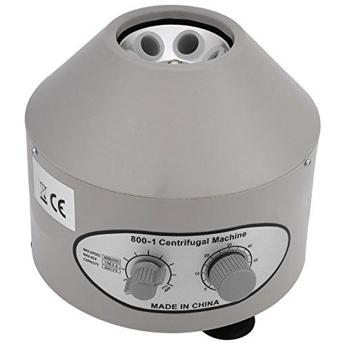 Centrifugadora de laboratorio, 220V Centrífuga Eléctrica Práctica médica centrífuga para laboratorio de laboratorio, Rango de velocidad: 0-4000 rpm, Capacidad: 20ml × 6 agujero