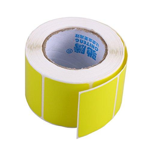 Thermal Dispenser (toymytoy blanko Thermal Transfer Etiketten Drucker Papier Versand Selbstklebende Aufkleber one size gelb)