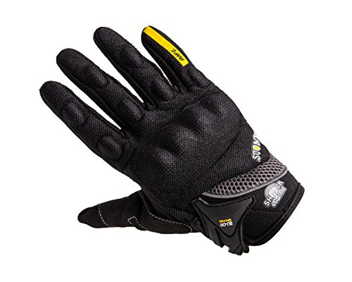 Auto Pearl Premium Quality Bike Racing/Riding Hand Grip Glove Autopearl Suomy Black Yellow XL (1 Pair Set of 2 pcs. ) For All Bikes.  available at amazon for Rs.799