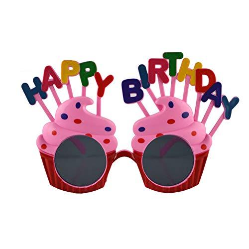 AAGOOD Maskerade-Parteigläser (Geburtstagstorte Gläser) Lustige Gläser Kostüm Party Brille Attraktive - Attraktive Kostüm