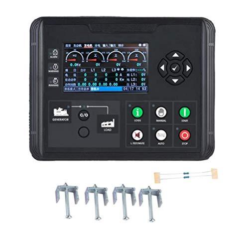 Generator-Steuermodul, 4,3-Zoll-LCD-Display Generator-Steuermodul Bedienfeldmodul Controller-Generator-Set-Controller Diesel- / Benzin- / Aggregatparameter-Monitor (DC70D) - 120v 60hz Single