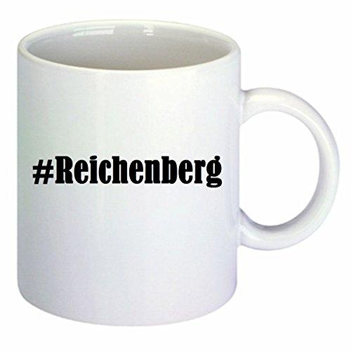Kaffeetasse #Reichenberg Hashtag Raute Keramik Höhe 9,5cm ⌀ 8cm in Weiß
