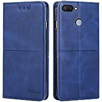 Yadasaro Funda para Xiaomi Redmi 6,[Ultra Slim] [Cierre Magnético] Bookstyle Cartera Flip Prima Vintage Carcasa Libro de Cuero Funda de Protección Completa para Xiaomi Redmi 6 Blue