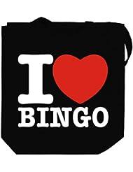 I love Bingo Canvas Tote Bag