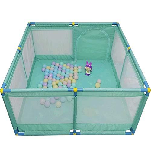 Recinto bambini Grande Box Porta Giochi per Bambini Portatile, Play Yard Pieghevole Divisorio per Sala Oxford Cloth 8 Side Panel (Colore : Green)