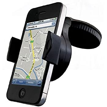 The Original Simply Electronics Universal Stick Anywhere Mobile Phone Car Windscreen / Dash Mount Cradle Mobile Phone Car Holder, Rotate & Lock to Windscreen - Fits all Mobile and Smartphones up to 8.5cm wide. Also works very well with your phone in its Protection Case