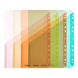 Amazon Brand - Solimo BP-09LT1-01 Binder Pocket - Pack of 4 (Blue)