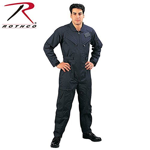 Rothco Military Airforce Style Flightsuit Coveralls - Navy Blue (Air Force Rothco)