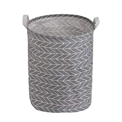 Oyfel Panier à Linge Barils de Stockage de Jouets Corbeilles Bac à Linge Household Organisateur Panier de Rangement en Tissu avec Poignée 35X45cm Gris