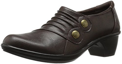Easy Street Edison Rund Kunstleder Slipper Dark Brown