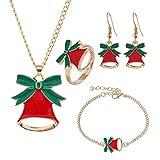 Myfilma Weihnachten Persönlichkeit Tropfen Öl Weihnachtsmann Pullover Kette Ohrringe Ornamente Weihnachten Zubehör Festliche Hochzeit Ohrringe Paar Geschenk