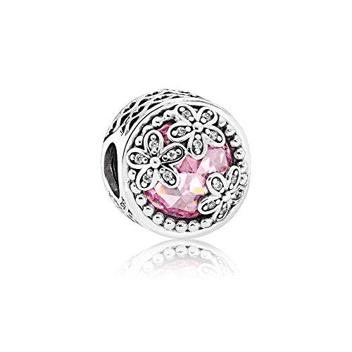 Pandora Damen -Bead Charms 925_Sterling_Silber zirkonia 792055PCZ (Blumen Pandora Charms)