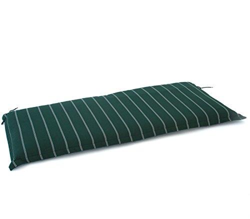 Hambiente 2 Sitzer Bank Auflage ca. 126 x 50cm waschbar mit Reißverschluss grün VE74