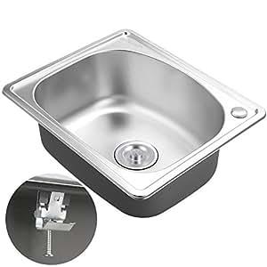 voilamart stainless steel 1 0 single bowl square kitchen. Black Bedroom Furniture Sets. Home Design Ideas