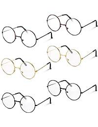 a55312229b meekoo 6 Pares Marco de Metal Gafas de Magos Gafas Redondas Retro Gafas  Redondas para Vestirse