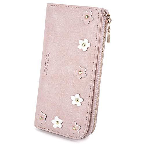 Femme Portefeuille Porte-Cartes Filles Multi Fleur Portable Porte-Monnaie Zippée