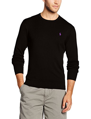 Polo Ralph Lauren Herren Sportpullover LS SF CN PP, Schwarz (Polo Black A0A02), Large (Pima-baumwolle Pullover)