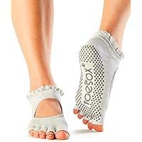 Calcetines de agarre ToeSox con puntera media, calcetines para yoga, danza y artes marciales