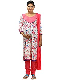 Ziva Maternity Wear Women's Cotton Stitched Salwar Suit