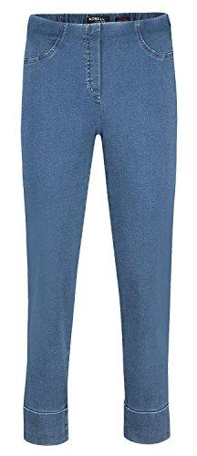 Robell Bella Jeans Denim Power Stretch Schlupfhosen Stretchhosen (38, Mittelblau(64)) - Power-stretch-denim