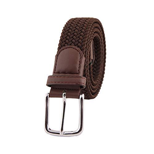 0d07f88f07 MIJIU Cintura elastica con cintura elasticizzata 35mm con fibbia ad  ardiglione in argento