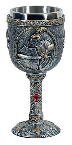 Mittelalter Weinkelch Kämpfender Ritter von Einkaufszauber
