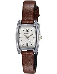 Sonata Analog White Dial Women's Watch - 8103SL04