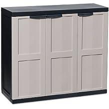Toomax Eco Line S - Mueble bajo, 3 puertas, 2 estantes