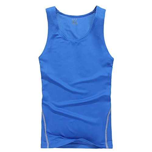 XDIAN Herren Stringer Tank Top Bodybuilding und Fitness Bekleidung | Muskelshirt Herren | Ärmelloses T Shirt Blue