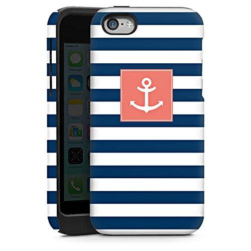 Apple iPhone 6 Housse Étui Silicone Coque Protection Ancre Bandes Maritime Cas Tough brillant