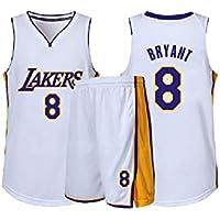 GBYN Traje de Entrenamiento de Baloncesto James Bryant, Conjunto de Jersey # 23 Lakers, Adecuado para jóvenes, Hombres y mujeres-8-XL
