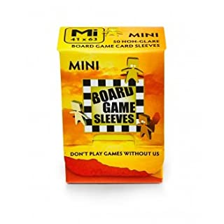 Arcane Tinmen ApS ART10425 Board Sleeves (Non-Glare) 41x63mm Kartenspiel-Hülle/Mini/Blendfrei Card Game, Clear, 41 x 63 mm