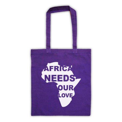 Africa esigenze Our Love Protest Slogan Tote Bag Viola