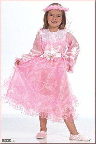 KARNEVALS-GIGANT Prinzessin Kostüm rosa für Mädchen | Größe 128 | 1-teiliges Disney Kostüm | Märchen Faschingskostüm für Kinder | Rapunzel Verkleidung