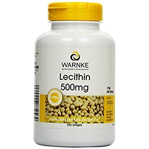 Warnke Gesundheitsprodukte Lecithin 500mg (aus Soja, ohne gentechnik) 250 Softgels, Großpackung