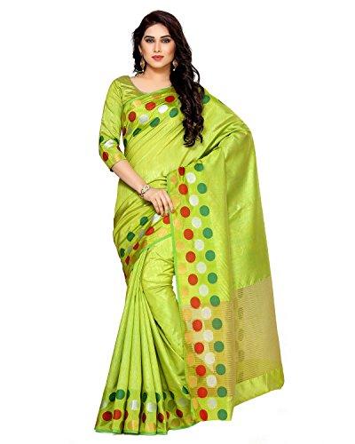 Mimosa By Kupinda Women's Tussar Silk Saree Kanjivaram Style (Latest Designer Sarees /Party Wear Sarees /New Collection...