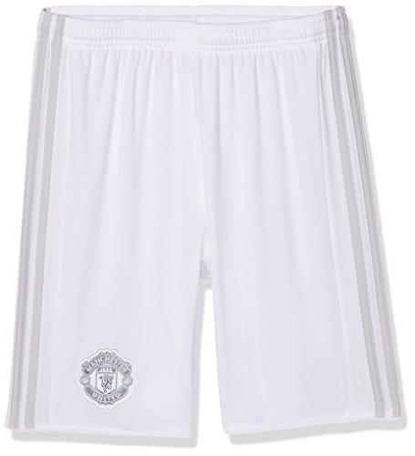 Adidas Manchester United FC Pantalones Cortos, Niños, Blanco (Grpulg), 152-11/12 Años