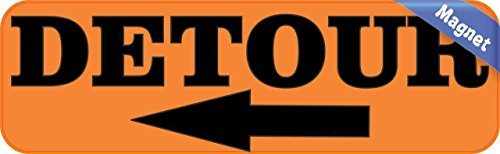 10-in-x-3-in-detour-con-chiusura-magnetica-left-arrow-sign