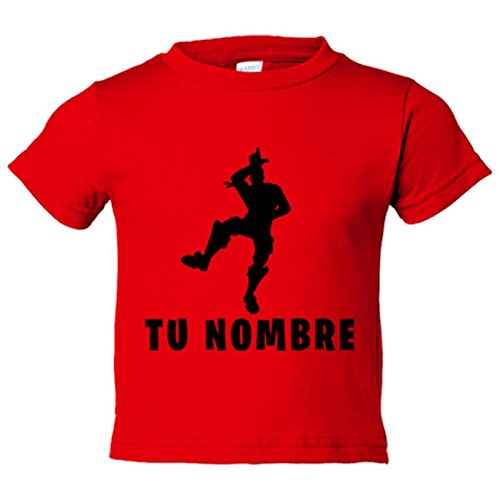 Camiseta niño Fortnite pose Take The L baile Loser personalizable con nombre - Rojo, 12-14 años