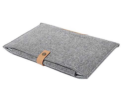 Custodia in Feltro per Computer Ultrabook Notebook Borsetta Protettiva Borsa per Laptop Macbook Air / Pro / Retina Grigio 15.4 Pollici