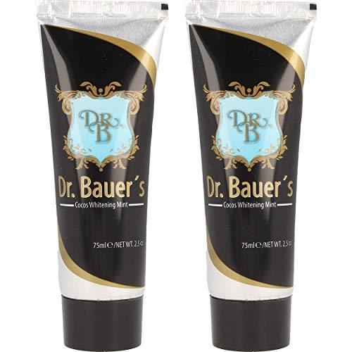 Dr. Bauers Cocos Whitening mint Zahnpasta 75ml, 2er Pack (2x 75ml) natürlich weiße Zähne, schonend aufhellen -