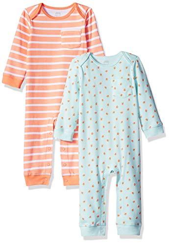 Amazon Essentials Baby Mädchen Overall, 2er-Pack, Girl Fruit, US 18M (EU 80-86)